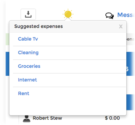 Suggested expenses